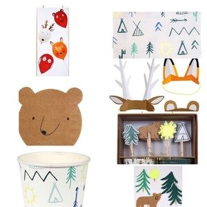 Woodland Forest, Explore & Camp party supply pack